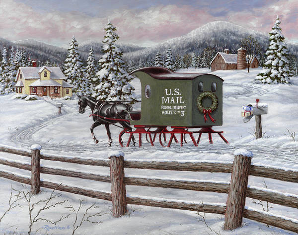 U S Painting - Across The Miles by Richard De Wolfe