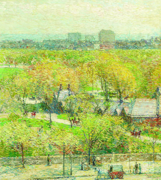 Painting - Across The Park by Childe Hassam