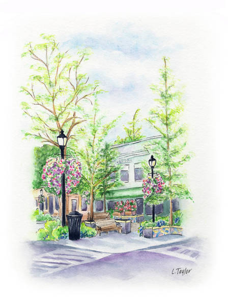 Painting - Across The Plaza by Lori Taylor