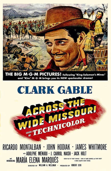 Across Photograph - Across The Wide Missouri  by Movie Poster Prints
