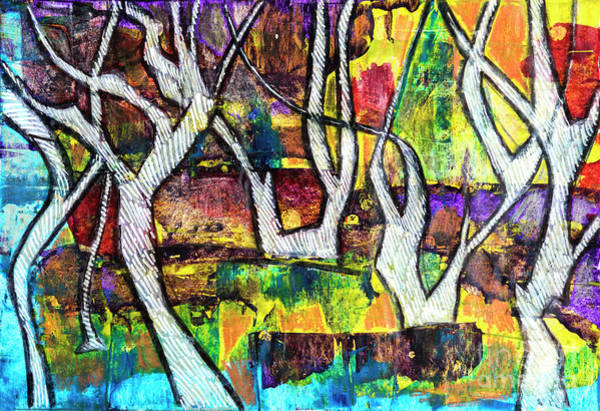 Painting - Acrylic Forest  by Ariadna De Raadt