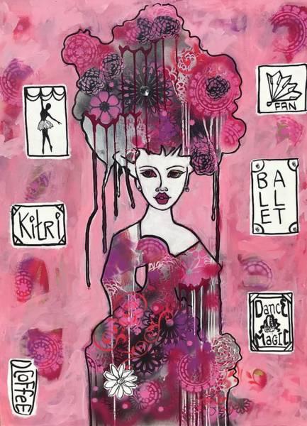 Variation Mixed Media - Acrylic Variations Kitri by Dalene Woodward