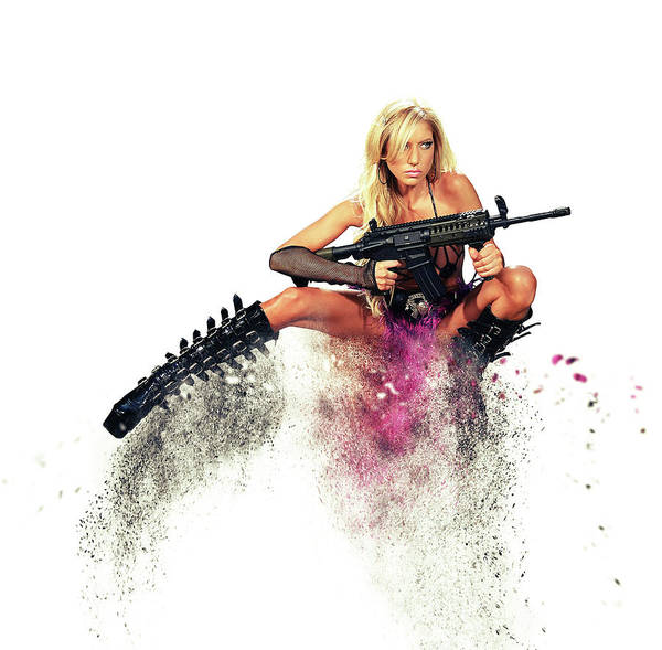 Guns Photograph - Action Girl by Smart Aviation