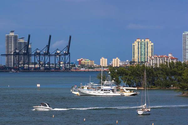 Photograph - Activity In Biscayne Bay by Ed Gleichman