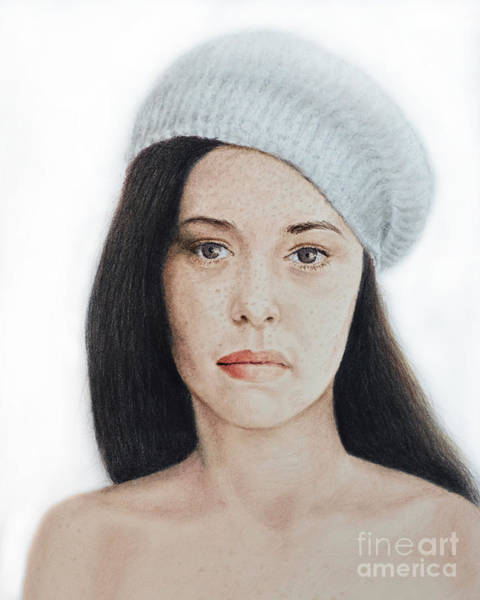 Freckle Drawing - Actress, Model, Author, Artist, Singer And Photographer Angela Cartwright by Jim Fitzpatrick