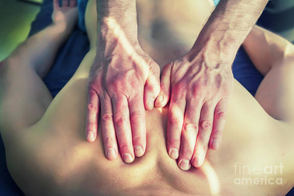 Photograph - Acupuncture  Massage by Ariadna De Raadt