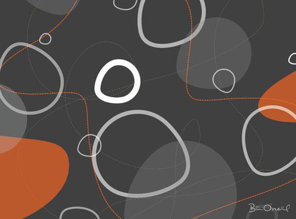 Adakame - Atomic Abstract Art Print by Bill ONeil