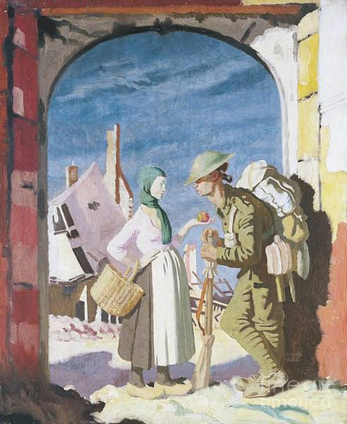 Dday Wall Art - Painting - Adam And Eve At Peronne by William Orpen