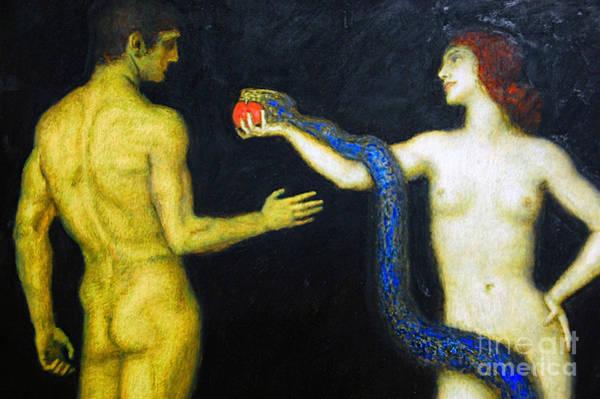 Franz Von Stuck Painting - Adam And Eve by Franz von Stuck