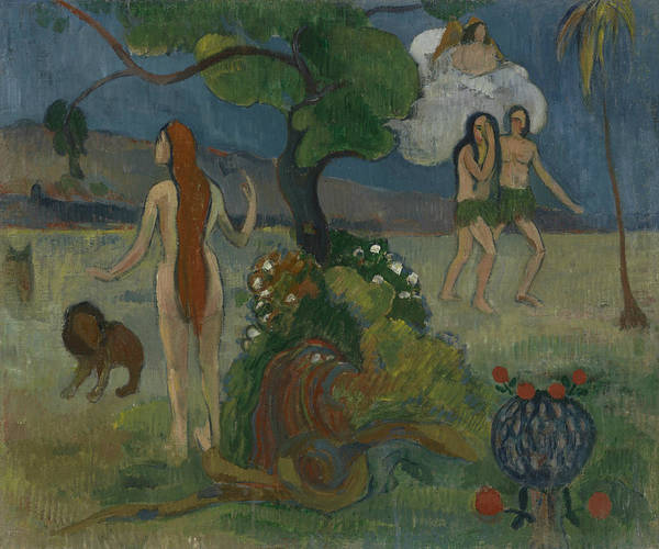 Painting - Adam And Eve Or Paradise Lost by Paul Gauguin