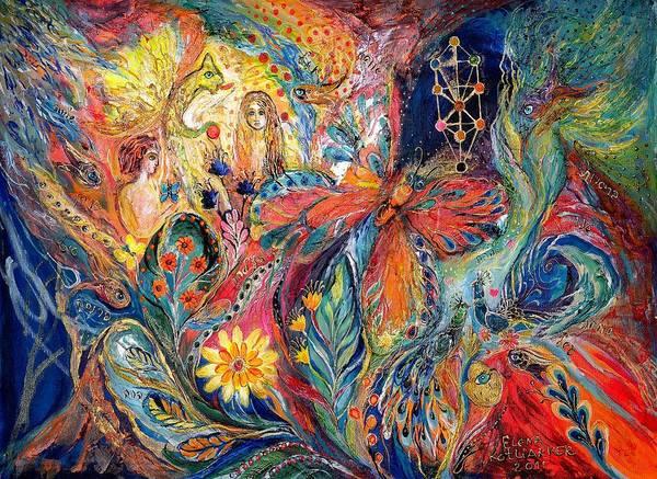 Mizrach Painting - Adam And Hava by Elena Kotliarker