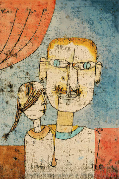Painting - Adam And Little Eve By Paul Klee 1921 by Paul Klee