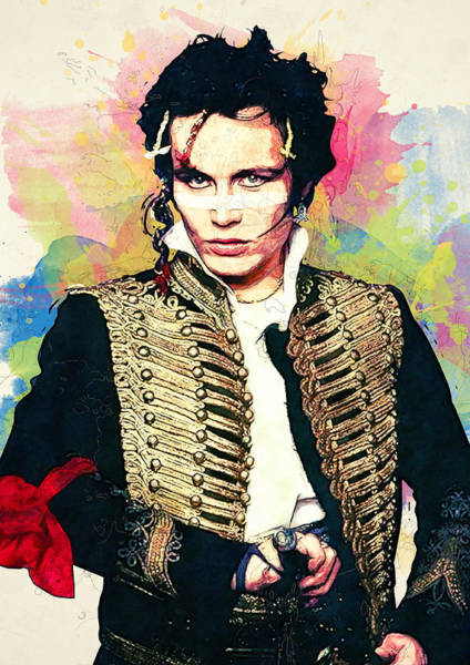 Glam Rock Digital Art - Adam Ant by Zapista Zapista