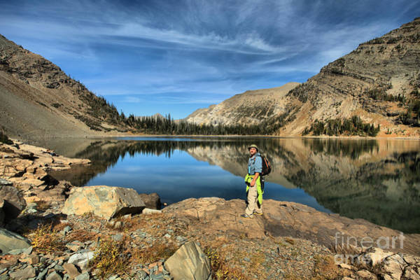 Photograph - Adam Jewell At Crypt Lake by Adam Jewell