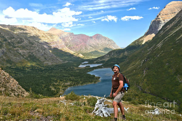 Photograph - Adam Jewell At Swiftcurrent Pass by Adam Jewell