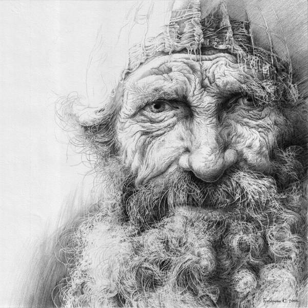 Drawing - Adam. Series Forefathers by Sergey Gusarin
