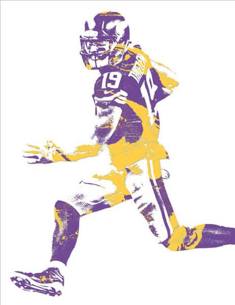 Wall Art - Mixed Media - Adam Thielen Minnesota Vikings Pixel Art 10 by Joe Hamilton