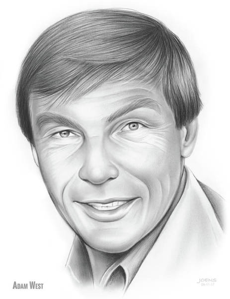 Pencil Drawing - Adam West by Greg Joens