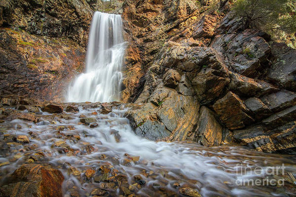 Photograph - Adams Canyon Waterfall by Spencer Baugh