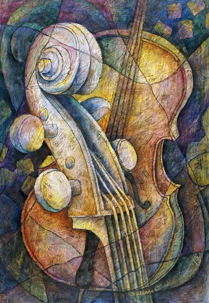 Wall Art - Painting - Adam's Cello by Susanne Clark