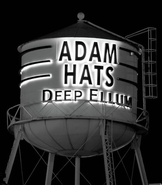 Photograph - Adams Hats Dallas B W 030818 by Rospotte Photography