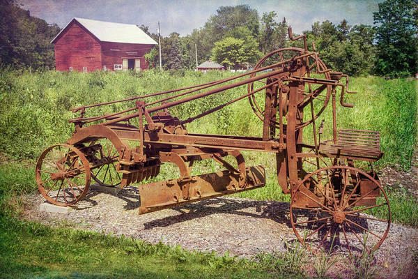 Photograph - Adams Leaning Wheel Grader by Guy Whiteley
