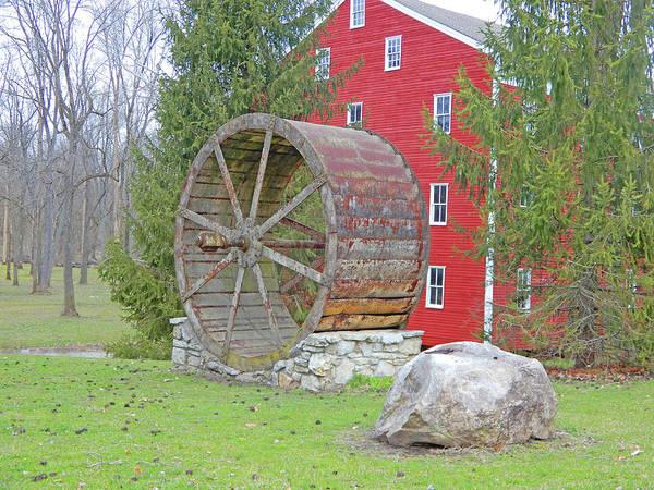 Photograph - Adams Mills Big Wheel by Tina M Wenger