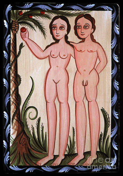 Painting - Adan Y Eva - Adam And Eve - Aoaye by Br Arturo Olivas OFS