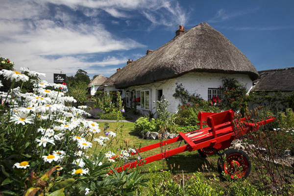 Photograph - Adare Thatch Roof Cottages Ireland by Pierre Leclerc Photography