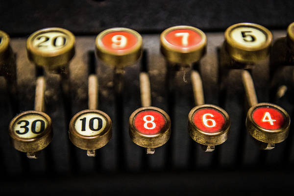 Bookkeeper Photograph - Adding Machine Keys by Paul Freidlund