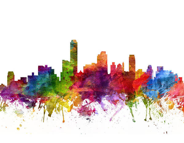 Splash Drawing - Adelaide Australia Cityscape 06 by Aged Pixel