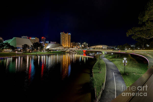 Photograph - Adelaide Riverbank At Night Iv by Ray Warren