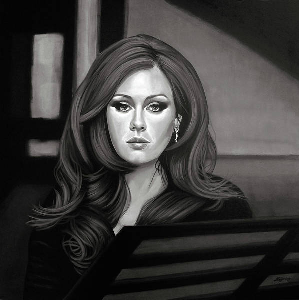 Wall Art - Painting - Adele Mixed Media by Paul Meijering