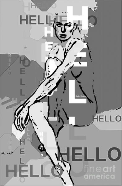Digital Art - Adeles Hello In Black And White by Rafael Salazar