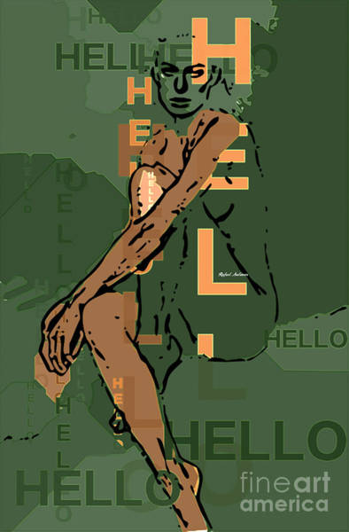 Digital Art - Adeles Hello by Rafael Salazar