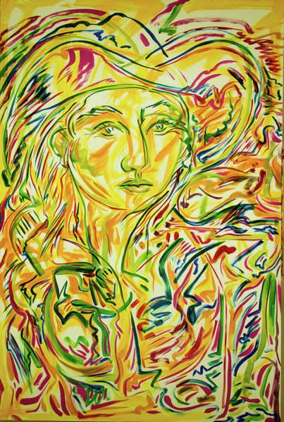 Ranchera Wall Art - Painting - Adelita, In The Sun by Jimmy Longoria