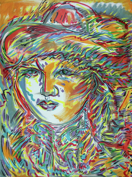 Ranchera Wall Art - Painting - Adelita With Small Hat by Jimmy Longoria