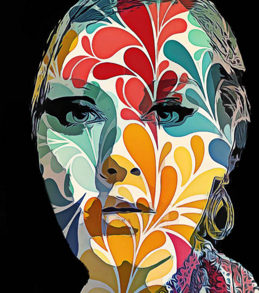 Voices Digital Art - Adelle In Flowers by Yury Malkov