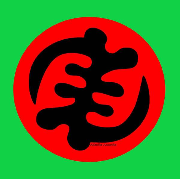 Digital Art - Adinkra Symbol Gye Nyame Except God Only God by Adenike AmenRa