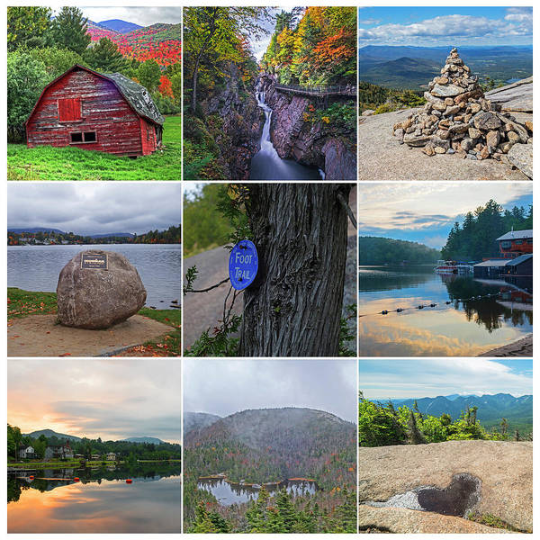 Photograph - Adironacks Collage Upstate New York by Toby McGuire