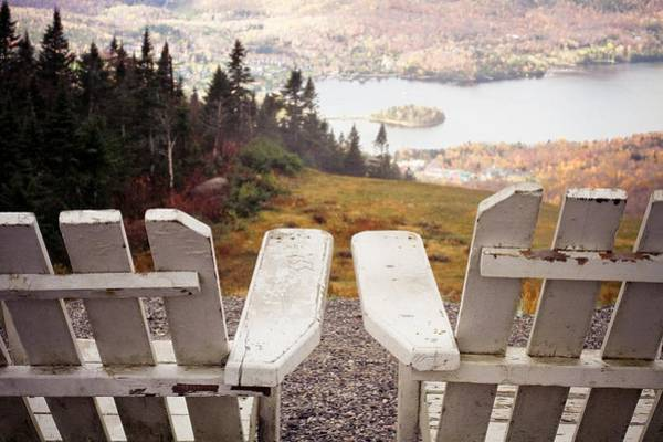 Canada Photograph - Adirondack Chair On Mountain Top by Angela Auclair