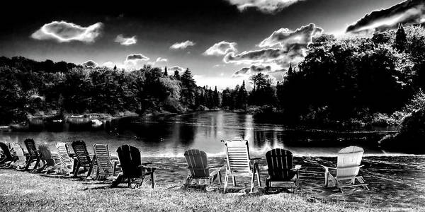 Photograph - Adirondack Chairs At Singing Waters by David Patterson