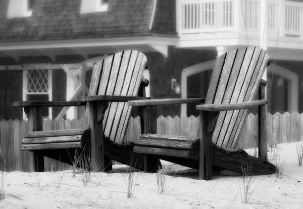 Wall Art - Photograph - Adirondack Chairs On The Beach - Jersey Shore by Angie Tirado