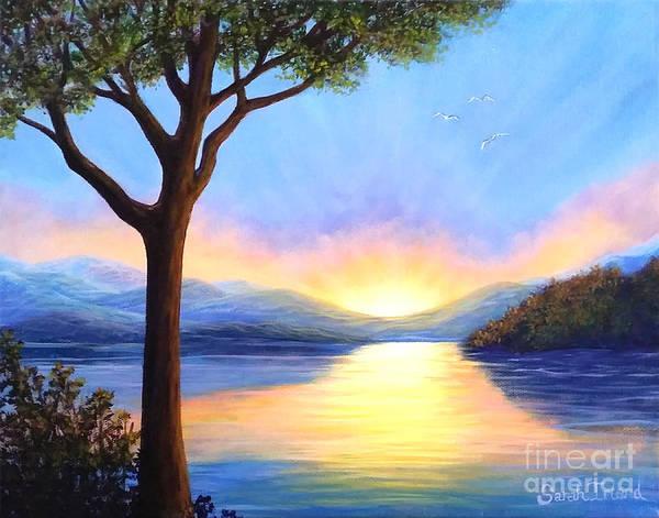 Adirondack Mountains Painting - Adirondack Dawn by Sarah Irland