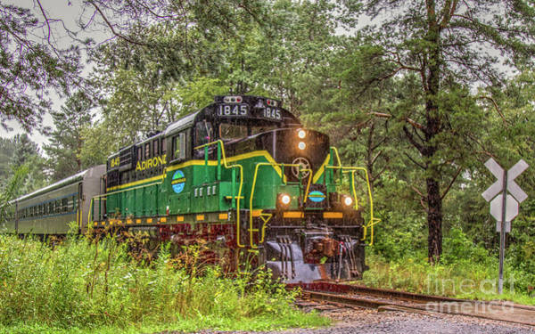 Photograph - Adirondack Scenic Rr Engine 1845 by Rod Best