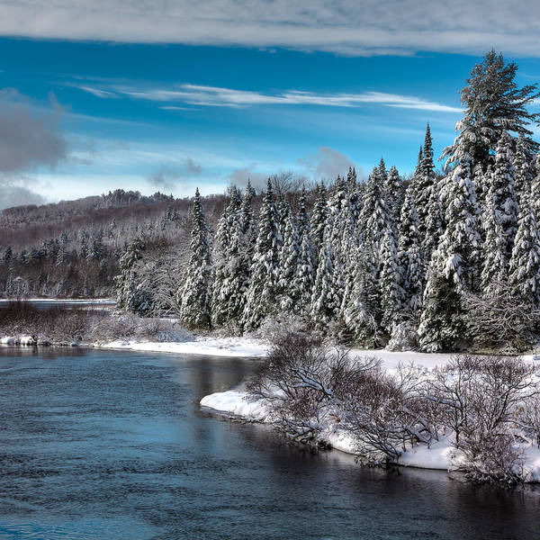 Photograph - Adirondack Snowfall by David Patterson