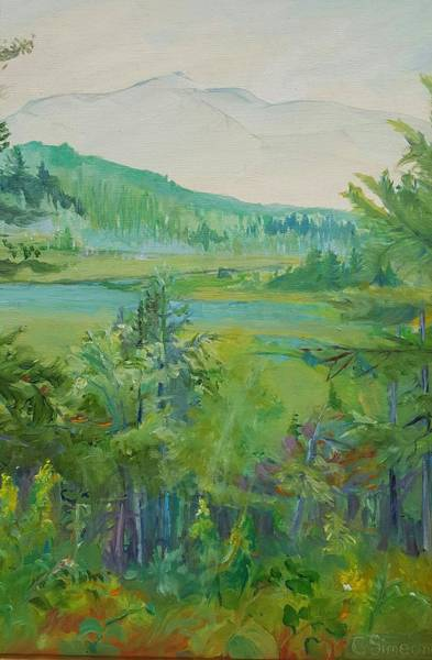 Adirondack Mountains Painting - Mountain View by Cheryl LaBahn Simeone
