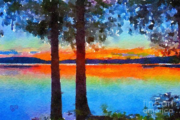 Adirondack Mountains Painting - Adirondack Sunset by Christine Dekkers