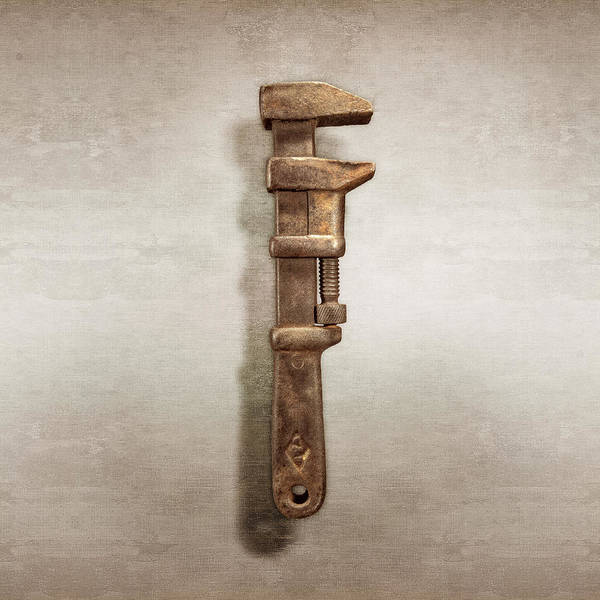 Adjustable Wrench Wall Art - Photograph - Adjustable Iron Wrench Right Face by YoPedro