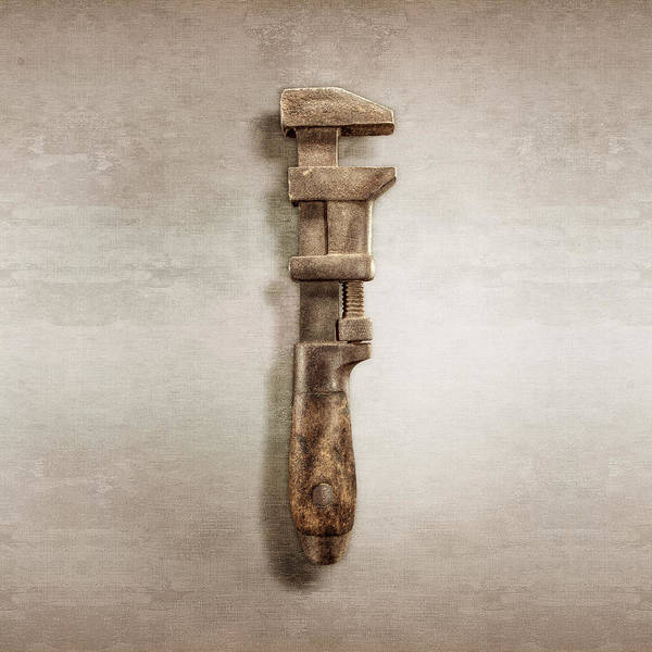 Hammer Wall Art - Photograph - Adjustable Wrench Right Face by YoPedro